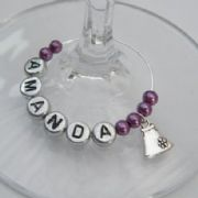 Purse Personalised Wine Glass Charm